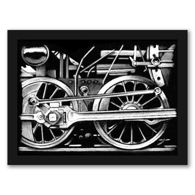 Locomotive Detail I by Ethan Harper by World Art Group - Black Framed Print - Wall Art - Americanflat