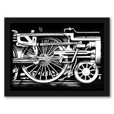 Locomotive Detail II by Ethan Harper by World Art Group - Black Framed Print - Wall Art - Americanflat