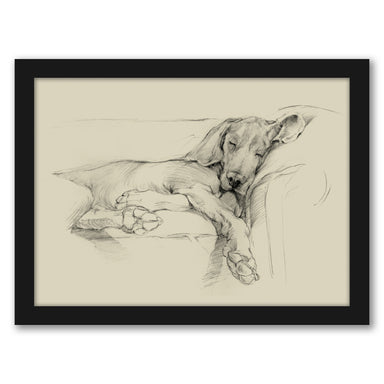 Dog Days I by Ethan Harper by World Art Group - Black Framed Print - Wall Art - Americanflat