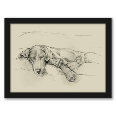 Dog Days II by Ethan Harper by World Art Group - Black Framed Print - Wall Art - Americanflat