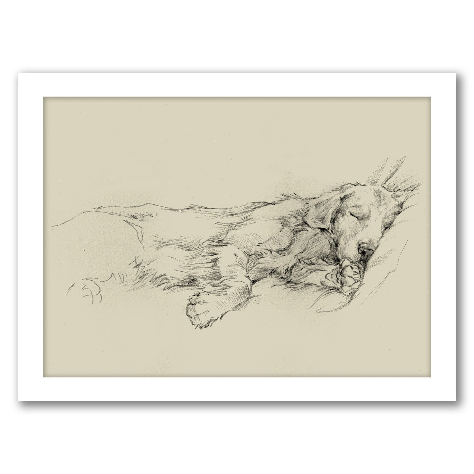 Dog Days III by Ethan Harper by World Art Group - Framed Print