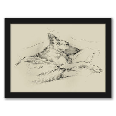 Dog Days IV by Ethan Harper by World Art Group - Black Framed Print - Wall Art - Americanflat