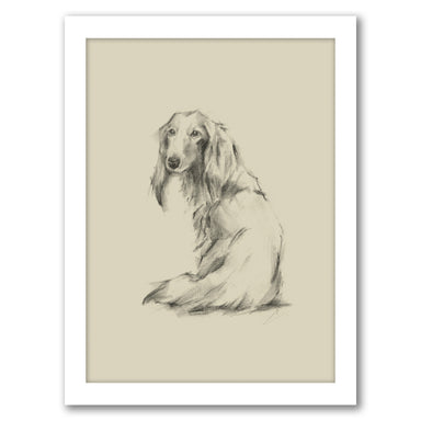 Puppy Dog Eyes II by Ethan Harper by World Art Group - White Framed Print - Wall Art - Americanflat