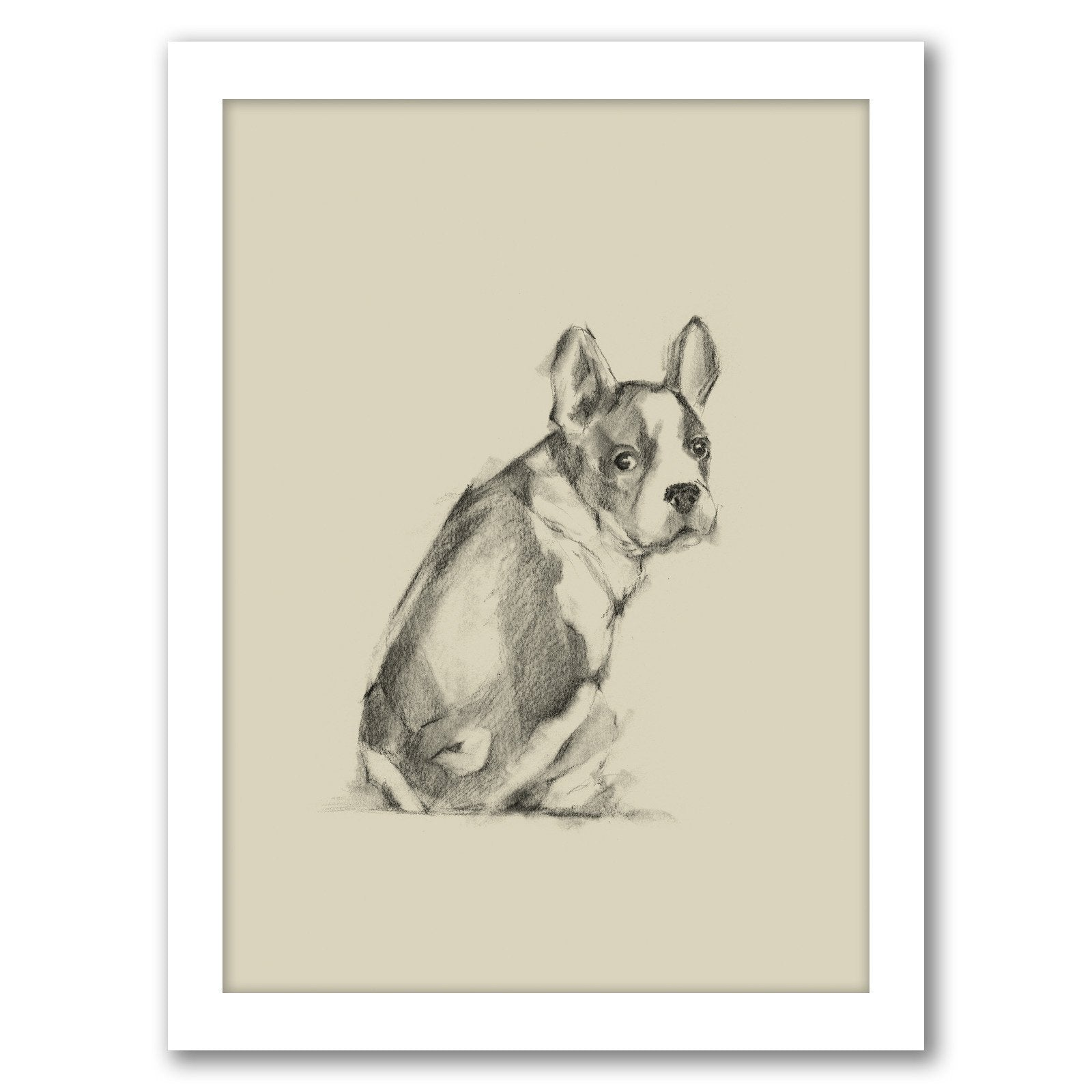 Puppy Dog Eyes IV by Ethan Harper by World Art Group - Framed Print