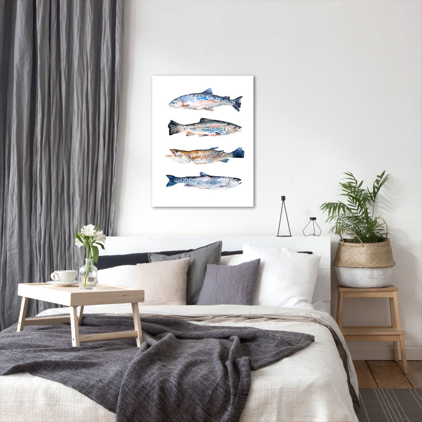 Stacked Trout II by Emma Scarvey by World Art Group - Wrapped Canvas - Wrapped Canvas - Americanflat