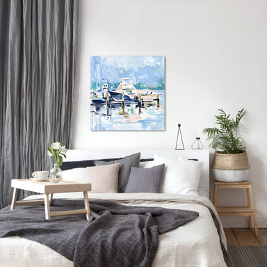 Watercolor Marina II by Emma Scarvey by World Art Group - Wrapped Canvas - Wrapped Canvas - Americanflat