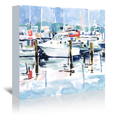 Watercolor Marina I by Emma Scarvey by World Art Group - Wrapped Canvas - Wrapped Canvas - Americanflat