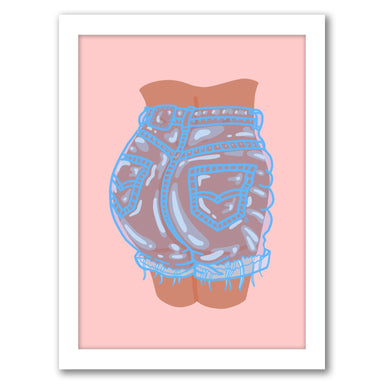 Bubble Butt By Laura O'Connor - White Framed Print - Wall Art - Americanflat