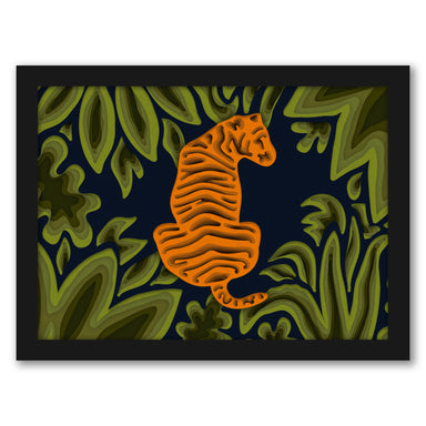 Deep In The Jungle By Laura O'Connor - Black Framed Print - Wall Art - Americanflat