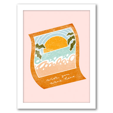 Wish You Were Here By Laura O'Connor - White Framed Print - Wall Art - Americanflat