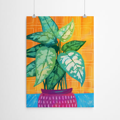 Chinese Evergreen by Annie Riker - Art Print - Art Print - Americanflat