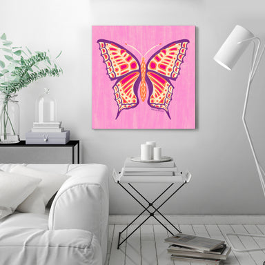 Textured Butterfly 1 by Annie Riker - Wrapped Canvas - Wrapped Canvas - Americanflat