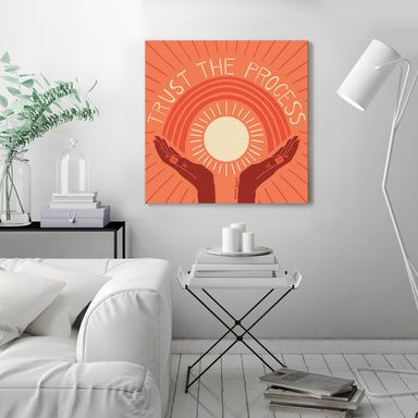 Trust The Process Orange by Annie Riker - Wrapped Canvas - Wrapped Canvas - Americanflat
