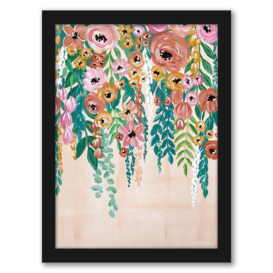 "Hanging Flowers by Elyse Burns - Black Frame, Black Frame, 16"" x 20"""