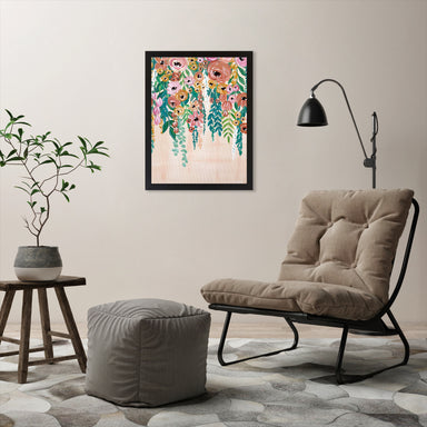 "Hanging Flowers by Elyse Burns - Black Frame, Black Frame, 18"" x 24"""