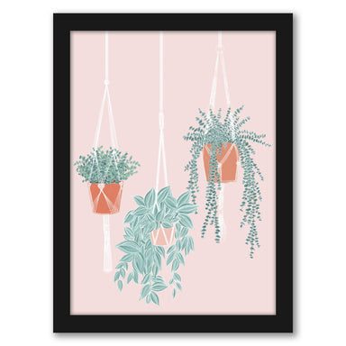"Hanging Plants by Elyse Burns - Black Frame, Black Frame, 16"" x 20"""