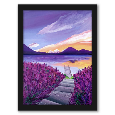 "Lavender Sunset by Elyse Burns - Black Frame, Black Frame, 16"" x 20"""