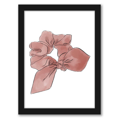 "Watercolor Scrunchie by Elyse Burns - Black Frame, Black Frame, 16"" x 20"""