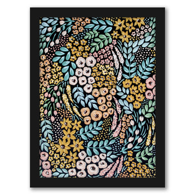 "Wildflowers by Elyse Burns - Black Frame, Black Frame, 16"" x 20"""