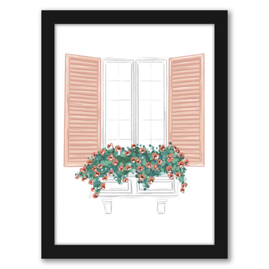 "Window by Elyse Burns - Black Frame, Black Frame, 16"" x 20"""
