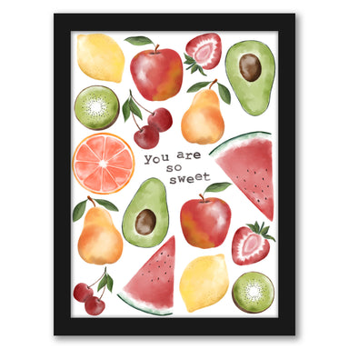 "Youre So Sweet Fruit by Elyse Burns - Black Frame, Black Frame, 16"" x 20"""