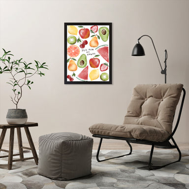 "Youre So Sweet Fruit by Elyse Burns - Black Frame, Black Frame, 18"" x 24"""