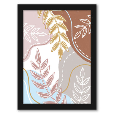 "Leaves Abstract by Elyse Burns - Black Frame, Black Frame, 16"" x 20"""