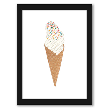"Soft Serve Ice Cream by Elyse Burns - Black Frame, Black Frame, 16"" x 20"""