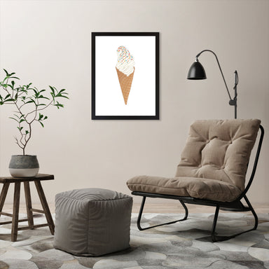 "Soft Serve Ice Cream by Elyse Burns - Black Frame, Black Frame, 18"" x 24"""