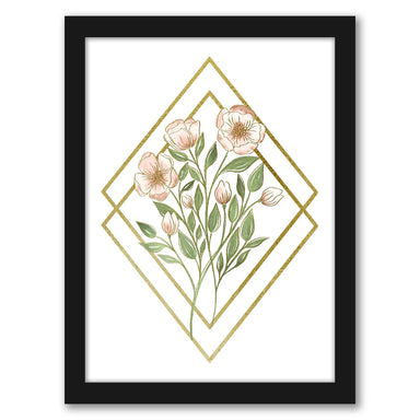 "Two Diamonds Wildflowers by Elyse Burns - Black Frame, Black Frame, 16"" x 20"""