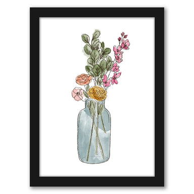 "Watercolor Vase by Elyse Burns - Black Frame, Black Frame, 16"" x 20"""