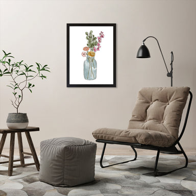 "Watercolor Vase by Elyse Burns - Black Frame, Black Frame, 18"" x 24"""