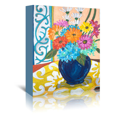 Cobalt Vase by Mandy Buchanan - Wrapped Canvas - Wrapped Canvas - Americanflat