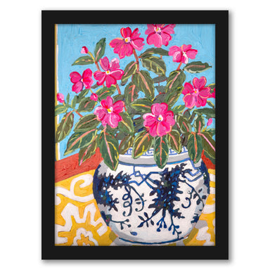 Floral On Yellow by Mandy Buchanan - Framed Print - Framed Print - Americanflat