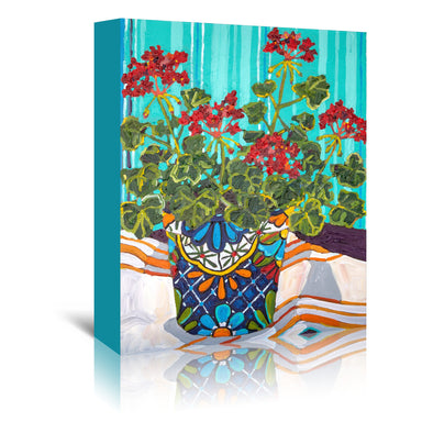 Geraniums by Mandy Buchanan - Wrapped Canvas - Wrapped Canvas - Americanflat