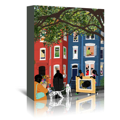 The Neighborhood by Uzo Njoku - Wrapped Canvas - Wrapped Canvas - Americanflat