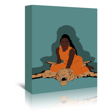 Tiger Eyes by Uzo Njoku - Wrapped Canvas - Wrapped Canvas - Americanflat