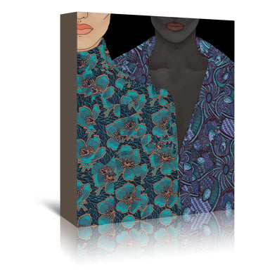 Two Bodies by Uzo Njoku - Wrapped Canvas - Wrapped Canvas - Americanflat
