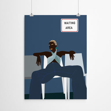 Waiting Area by Uzo Njoku - Art Print - Art Print - Americanflat