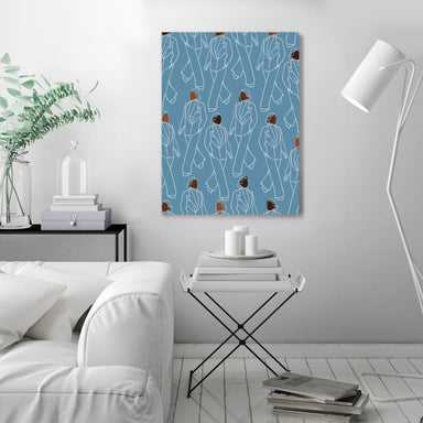 Walking Pattern by Uzo Njoku - Wrapped Canvas - Wrapped Canvas - Americanflat