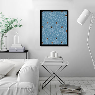Walking Pattern by Uzo Njoku - Framed Print - Framed Print - Americanflat