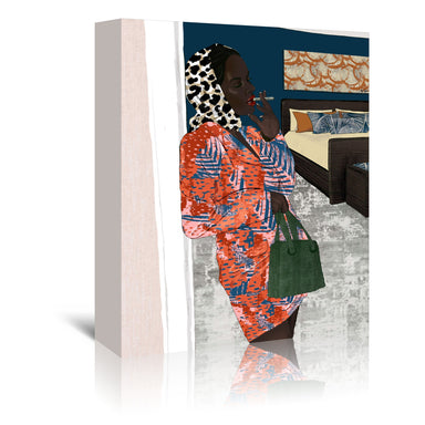 Working Woman by Uzo Njoku - Wrapped Canvas - Wrapped Canvas - Americanflat