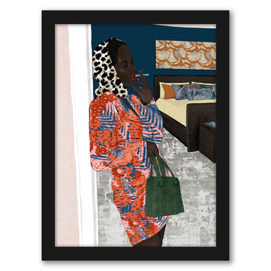 Working Woman by Uzo Njoku - Framed Print - Framed Print - Americanflat