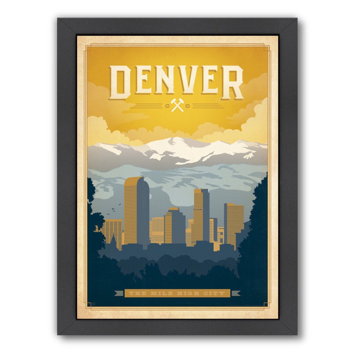 Denver by Anderson Design Group Framed Print - Wall Art - Americanflat