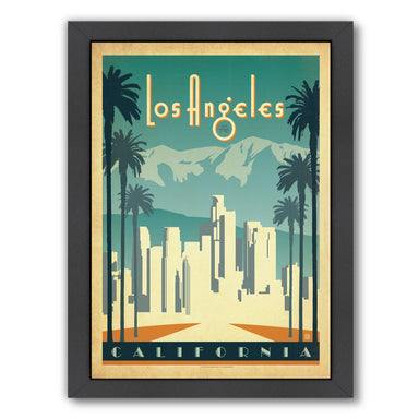 Los Angeles by Anderson Design Group Framed Print - Wall Art - Americanflat