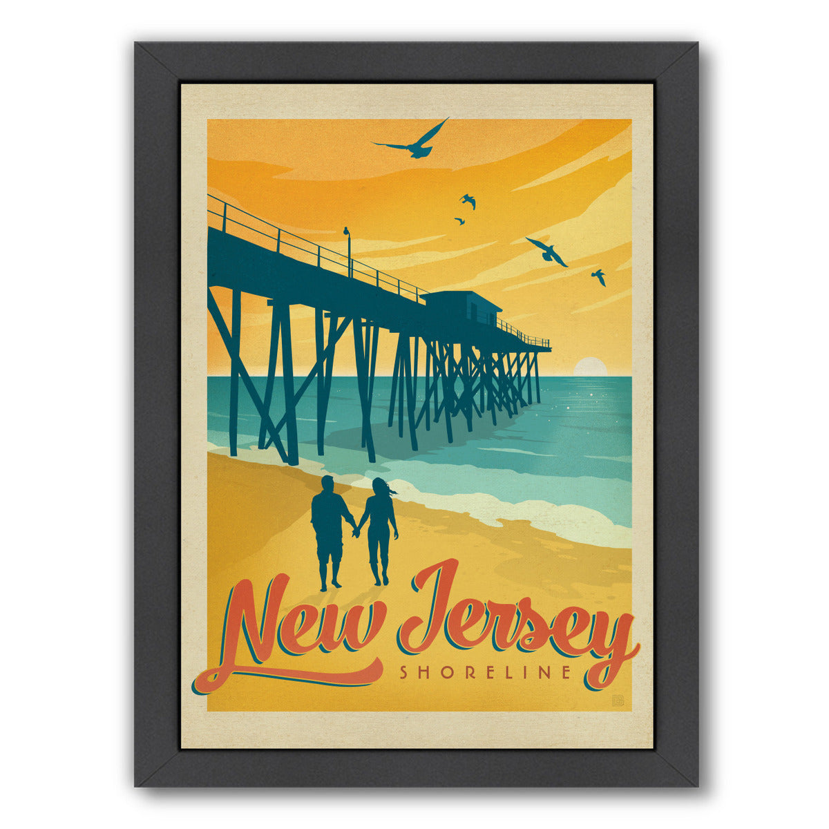 Jersey Shore by Anderson Design Group Framed Print - Wall Art - Americanflat