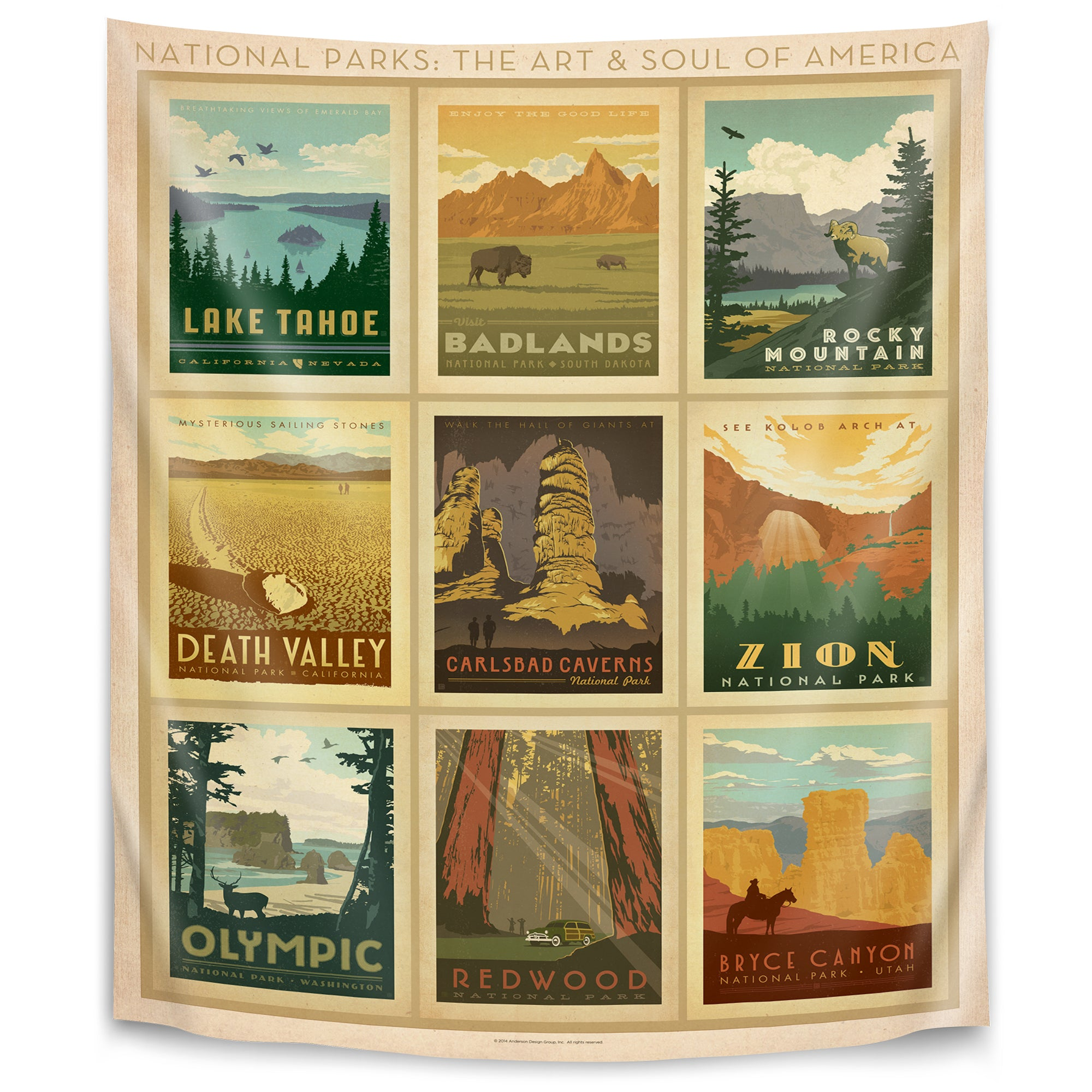 National Park Multi 2 By Anderson Design Group Tapestry Americanflat