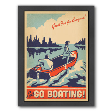 Lake Go Boating by Anderson Design Group Framed Print - Wall Art - Americanflat