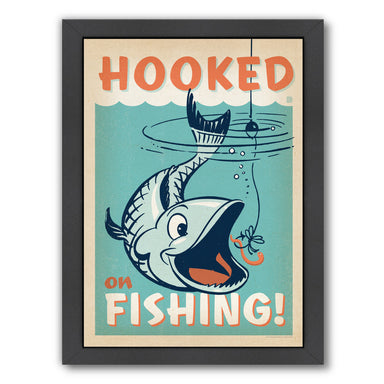 Lake Hooked On Fishing by Anderson Design Group Framed Print - Wall Art - Americanflat