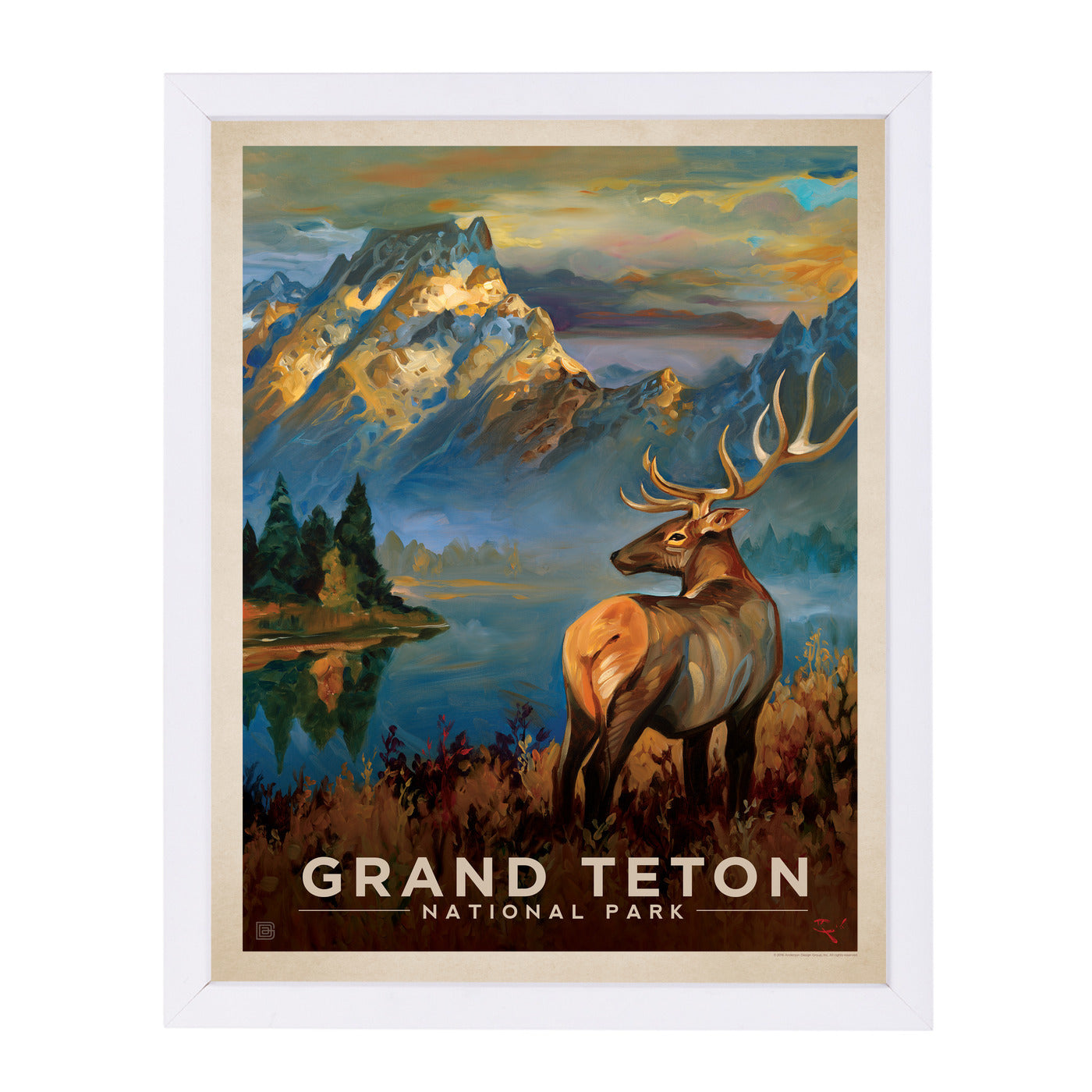 Grand Teton by Anderson Design Group Framed Print - Wall Art - Americanflat